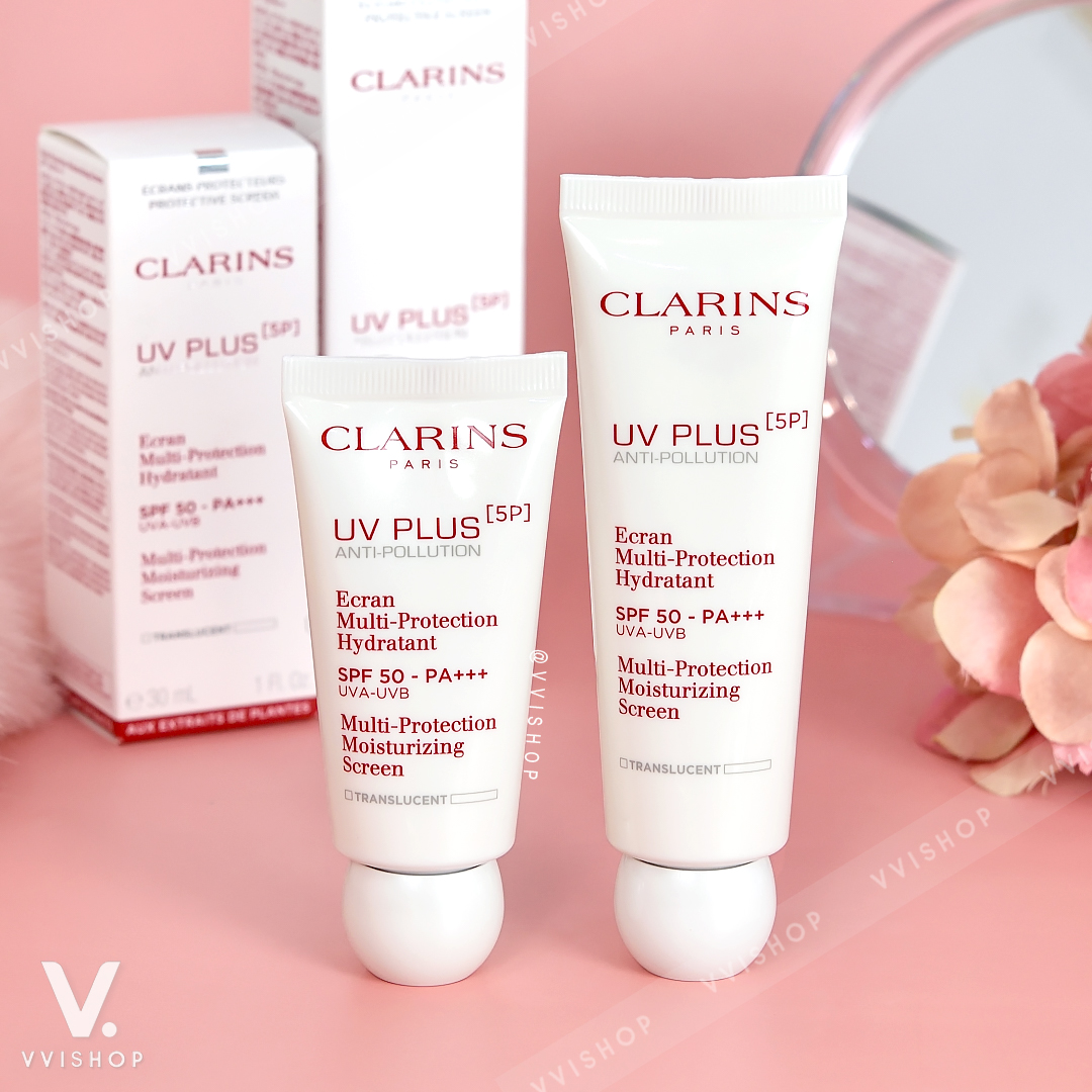 New! Clarins UV Plus Anti-Pollution SPF50 - PA+++ 50 ml. : Translucent