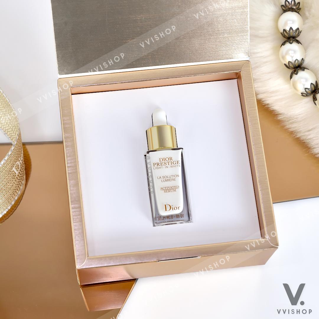 New! Dior Prestige Light-in-White La Solution Lumière Activated Serum 10 ml.