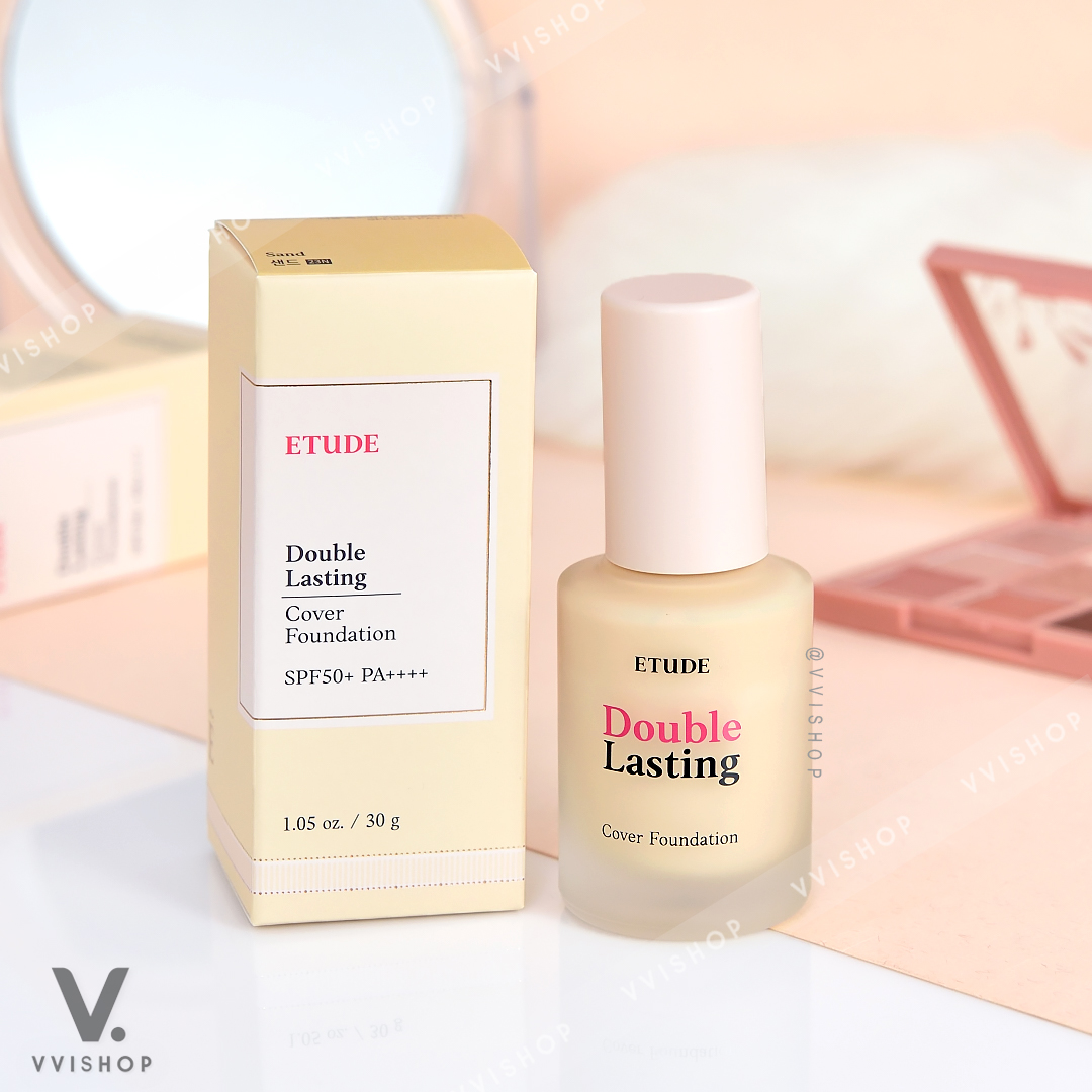 New Etude House Double Lasting Cover Foundation SPF50+ PA++++ 30g