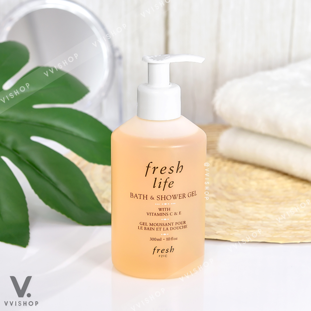 Fresh Life Bath & Shower Gel With Vitamins C & E 300 ml.