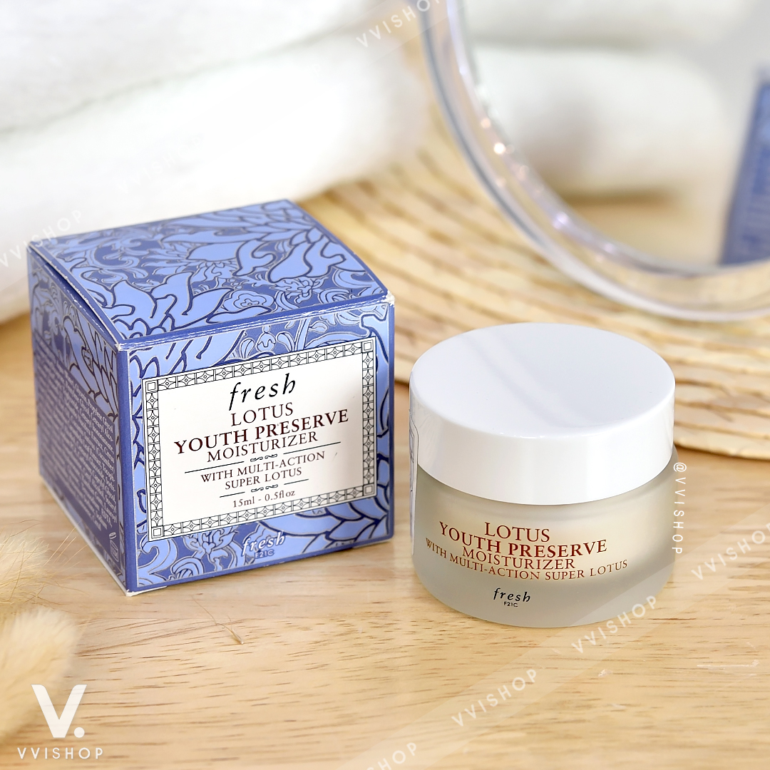 New! Fresh Lotus Youth Preserve Moisturizer with Multi-Action Super Lotus 15 ml.