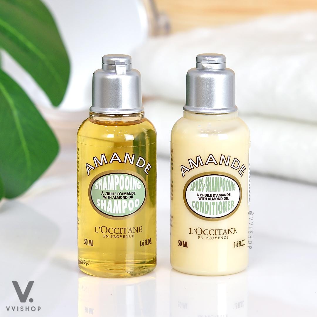 L'Occitane Almond Shampoo 50 ml. + Almond Conditioner 50 ml.