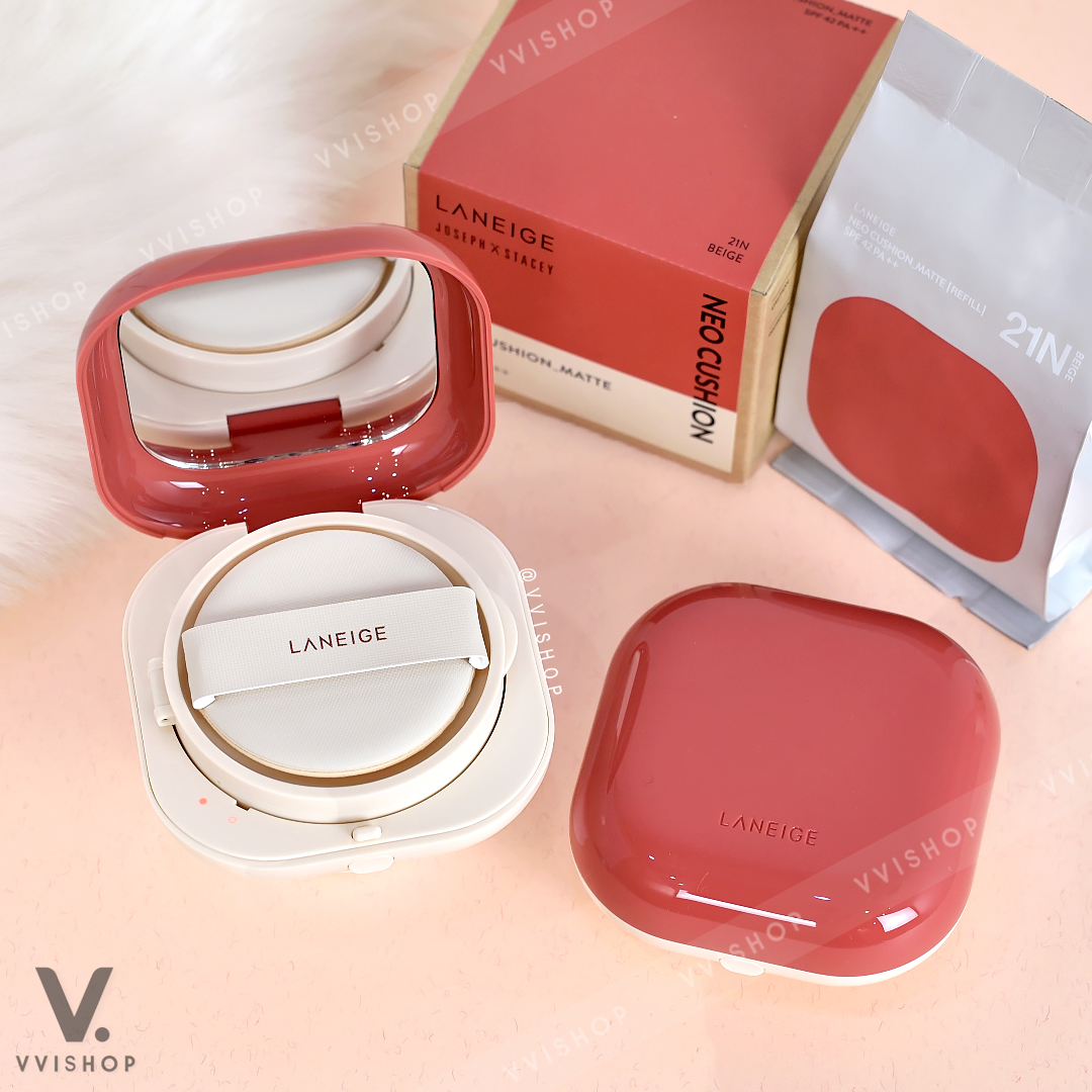 Laneige Neo Cushion Matte Joseph x Stacey SPF 42 PA++ Limited Edition 15g x 2 : Lumi Coral