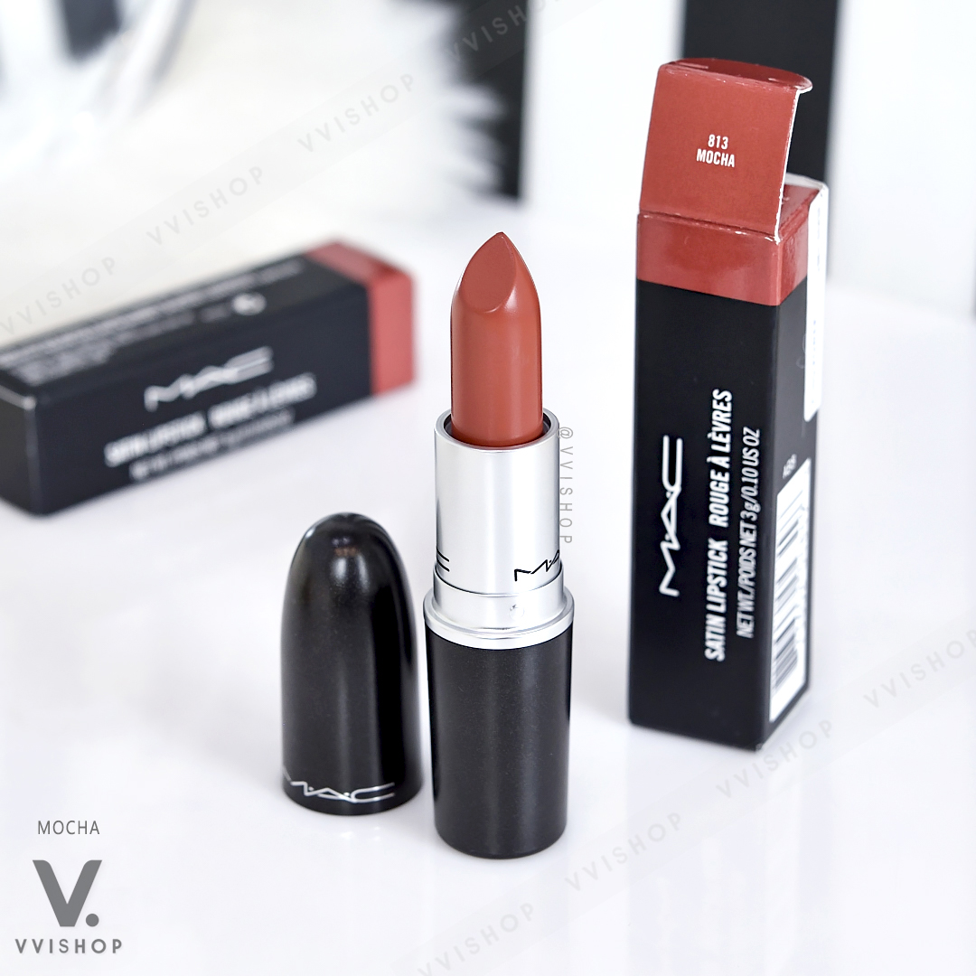 MAC Satin Lipstick 3g : 813 Mocha
