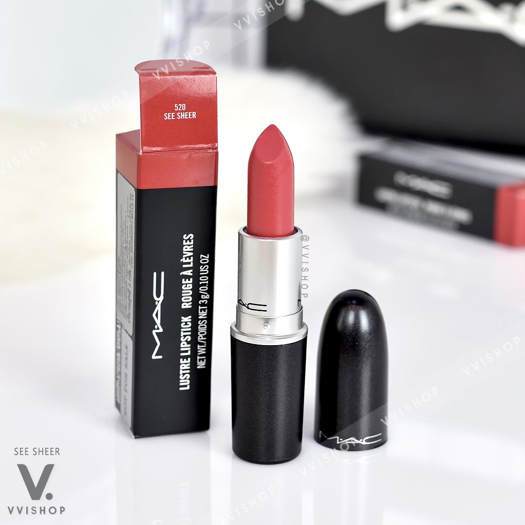 MAC Lustre Lipstick 3g : 520 See Sheer
