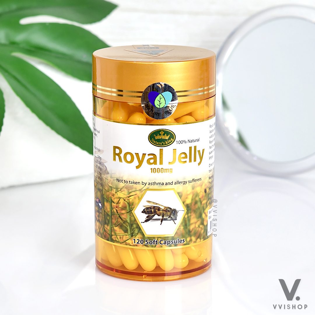 Nature King Royal Jelly  120 Capsules