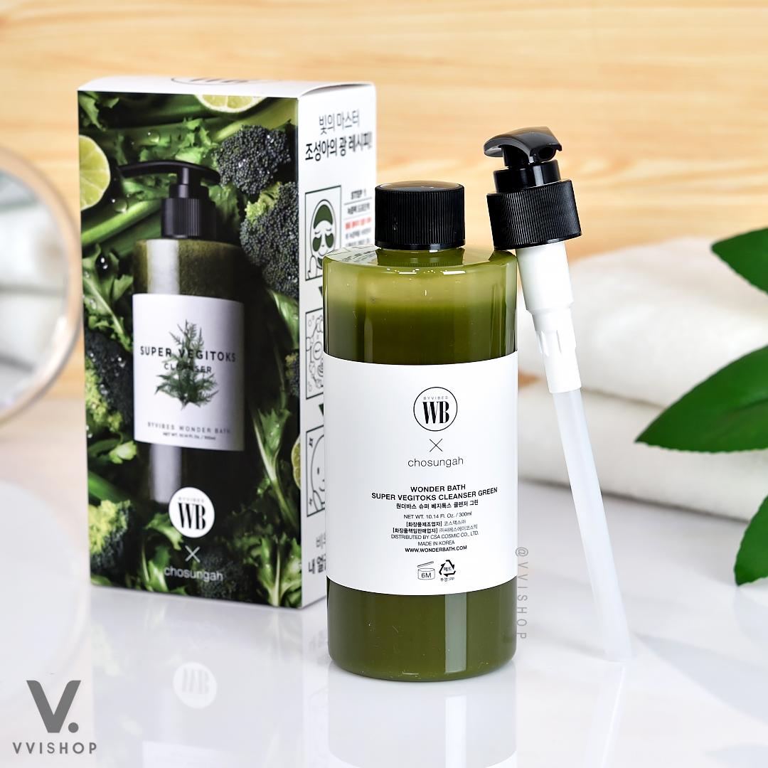 Wonder Bath Super Vegitoks Cleanser Green 300 ml.