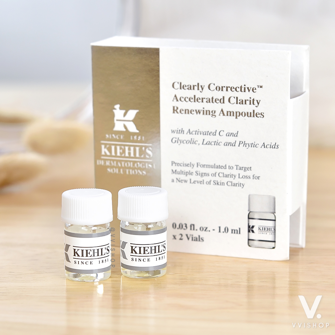 Kiehl's Clearly Corrective Accelerated Clarity Renewing Ampoules 1 ml. x 2
